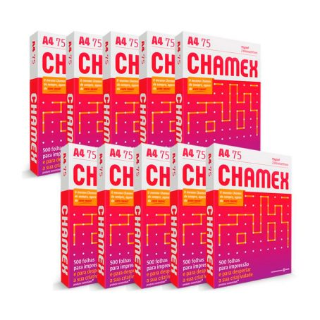 Papel Sulfite Chamex Office A4 Branco Cx C/10 Resma – 5000 Folhas