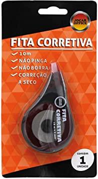 Corretivo em fita com excelente aderência, pode ser usado em qualquer tipo de papel.
